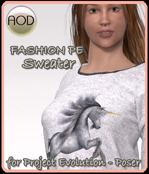 Fashion: PE Sweater 3D Figure Assets ArtOfDreams
