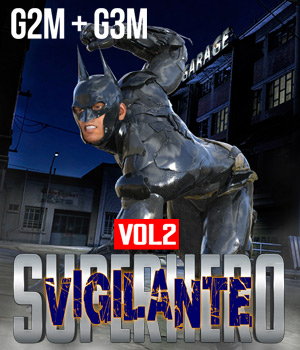 SuperHero Vigilante for G2M and G3M Volume 2 3D Figure Assets GriffinFX