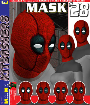 MMKBG3 Mask 028 3D Figure Assets MightyMite
