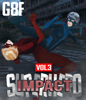 SuperHero Impact for G8F Volume 3 3D Figure Assets GriffinFX