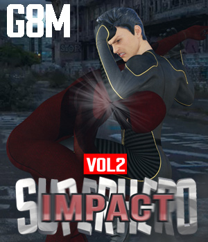 SuperHero Impact for G8M Volume 2 3D Figure Assets GriffinFX