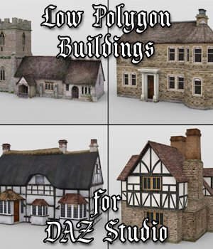 Low Poly Buildings for DAZ Studio 3D Models VanishingPoint