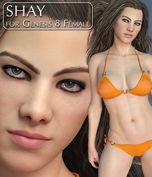 Shay for Genesis 8 Female 3D Figure Assets Slan3D