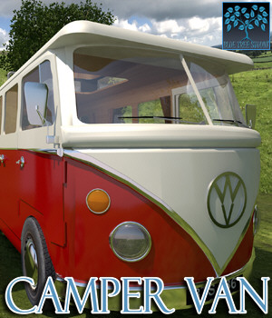 Camper Van for Poser 3D Models BlueTreeStudio