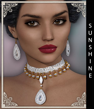 Sunshine for Pepper Jewels 3D Figure Assets sandra_bonello