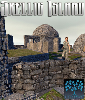 Skellig Island for Poser 3D Models BlueTreeStudio