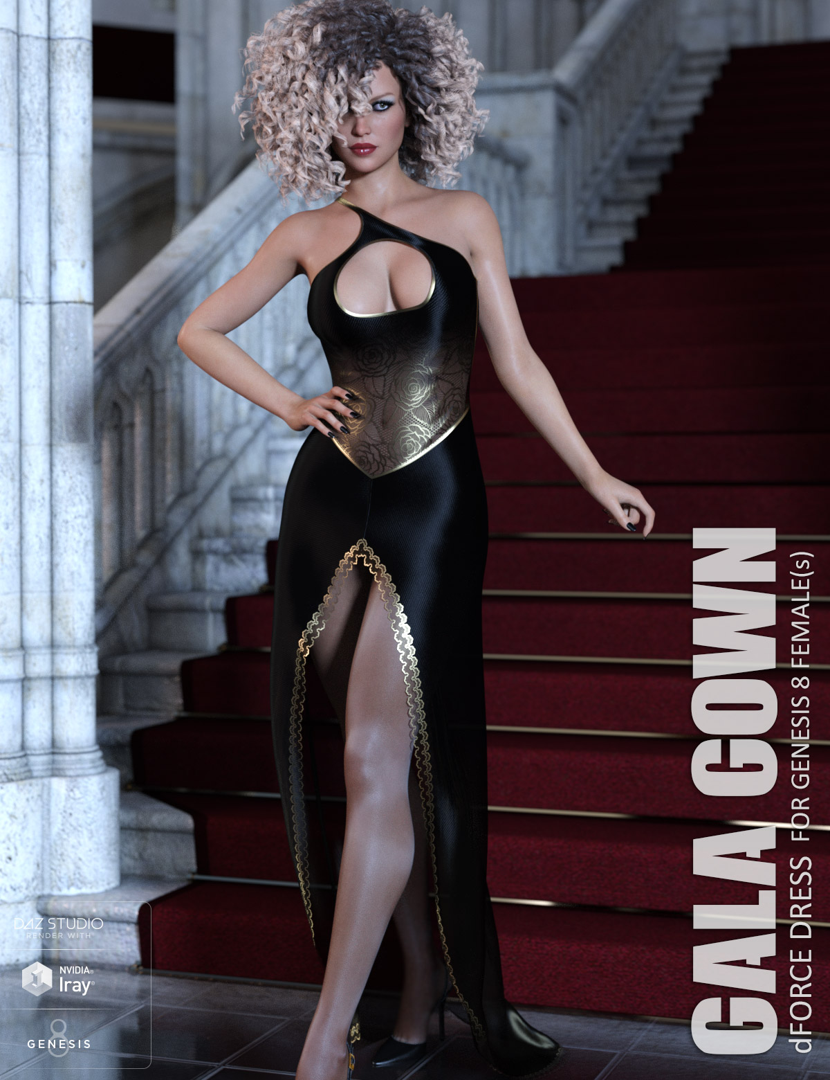 dForce Gala Gown for Genesis 8 Females