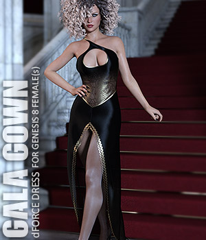 dForce Gala Gown for Genesis 8 Females 3D Figure Assets lilflame