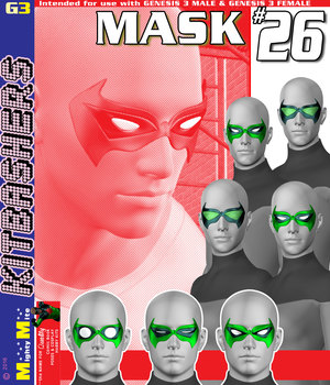 Mask 026 MMKBG3  3D Figure Assets MightyMite