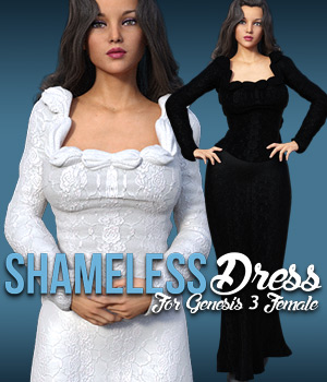 Shameless Dress for G3 females 3D Figure Assets powerage