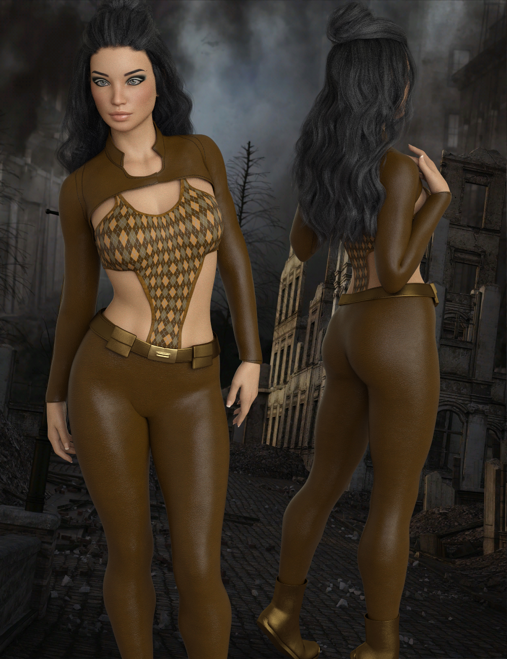 InStyle - X-Fashion XWarrior Outfit for Genesis 8 Females