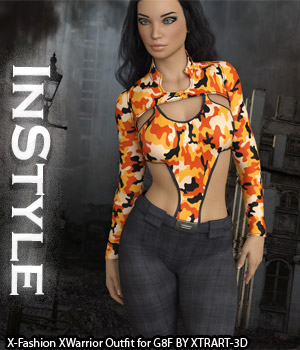 InStyle - X-Fashion XWarrior Outfit for Genesis 8 Females 3D Figure Assets -Valkyrie-