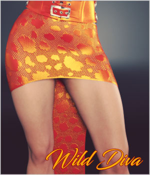 Wild Diva for dForce Diva Skirt G3F and G8F 3D Figure Assets SynfulMindz
