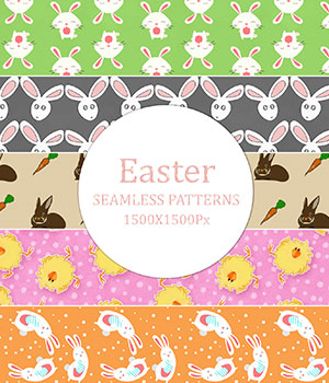 Easter - Seamless Patterns 2D Graphics Merchant Resources romawka