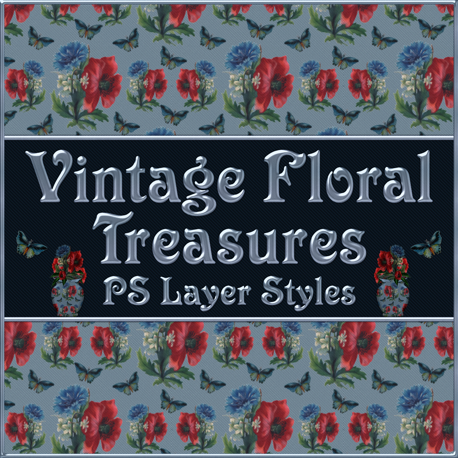 Vintage Floral Treasures PS Layer Styles