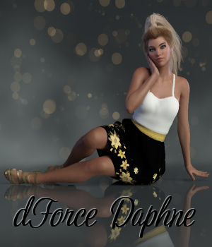 dForce Daphne Outfit for Genesis 8 Females 3D Figure Assets WildDesigns