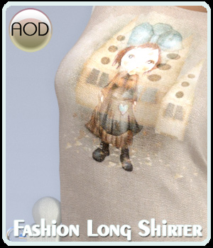 Fashion: Long Shirter G3 3D Figure Assets ArtOfDreams