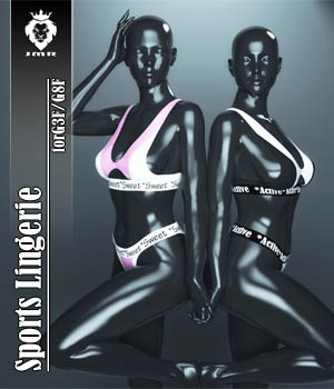 JMR Sports Lingerie for G3F and G8F 3D Figure Assets JaMaRe