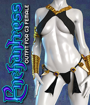 Exnem Enchantress Outfit for G3 Female 3D Figure Assets exnem