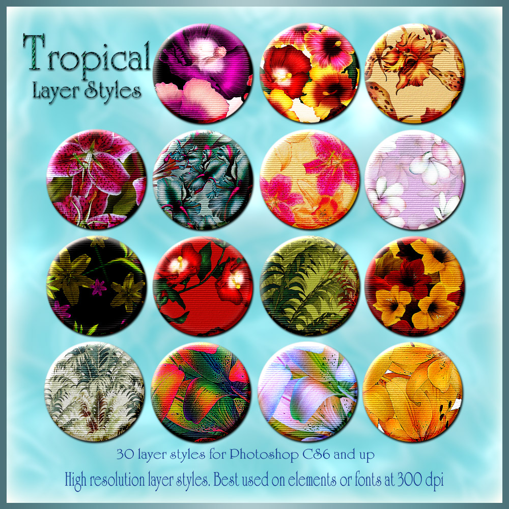 Tropical Photoshop Styles
