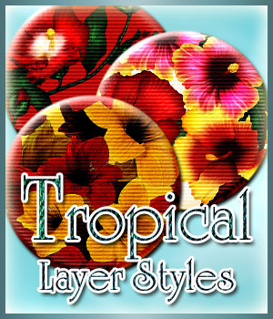 Tropical Photoshop Styles 2D Graphics antje