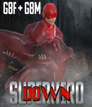 SuperHero Down for G8F and G8M Volume 1 3D Figure Assets GriffinFX