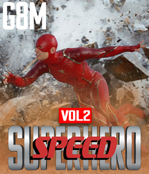 SuperHero Speed for G8M Volume 2 3D Figure Assets GriffinFX