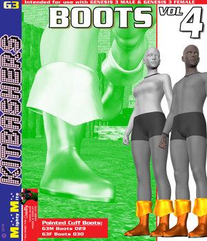 MMKBG3 Boots v004 3D Figure Assets MightyMite