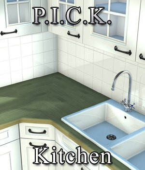 P.I.C.K. Kitchen Expansion Set for Poser 3D Models VanishingPoint