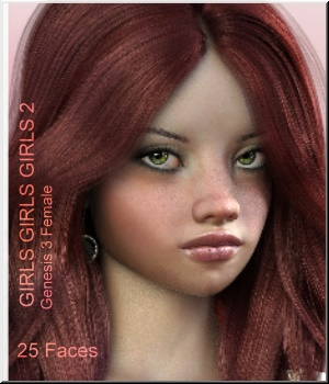 Girls Girls Girls- G3F 25 Character Faces