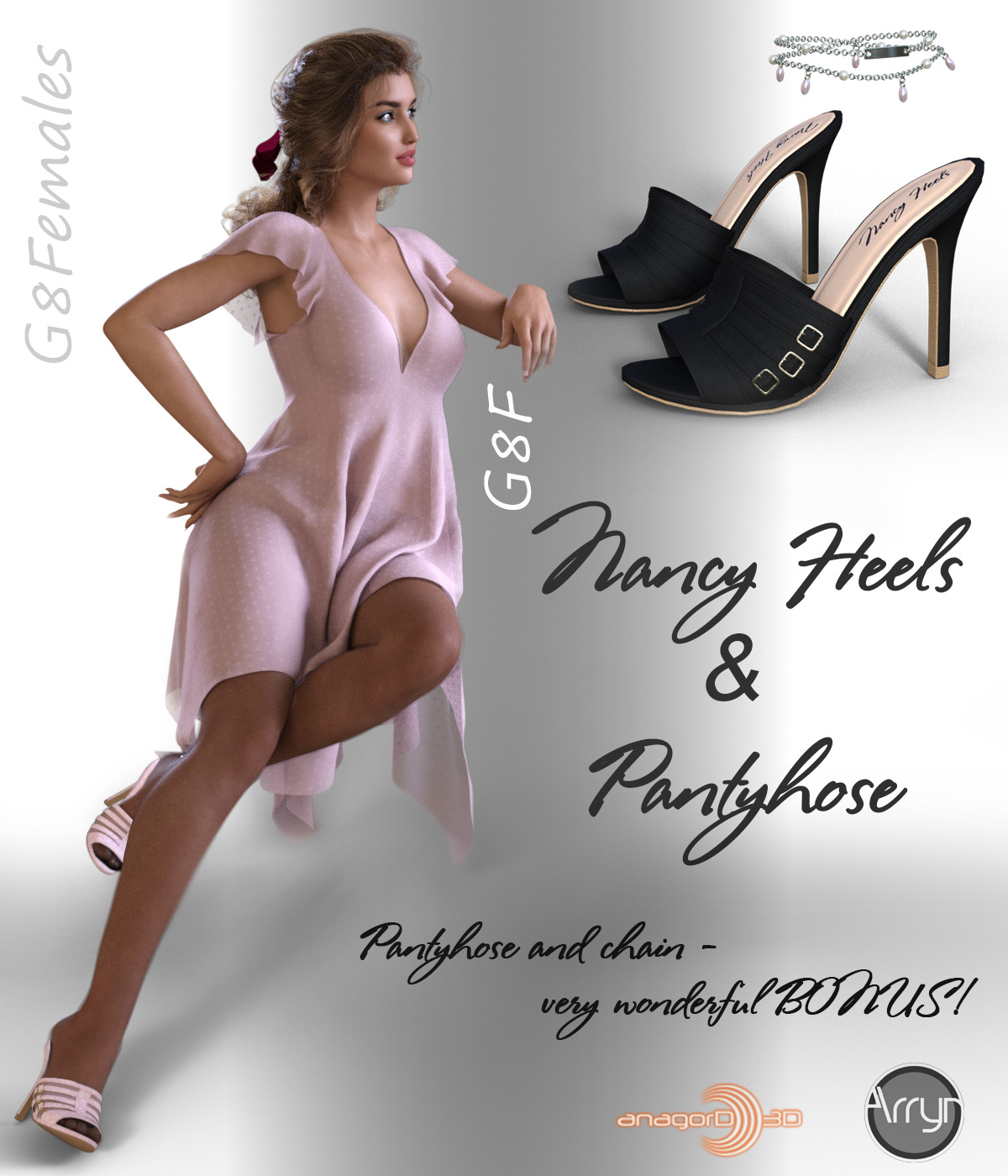 Nancy Heels and Pantyhose G8F