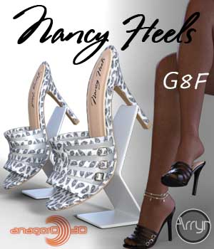 Nancy Heels and Pantyhose G8F 3D Figure Assets Arryn