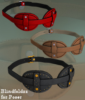 BlindfoldZZ for Poser 3D Figure Assets Karth