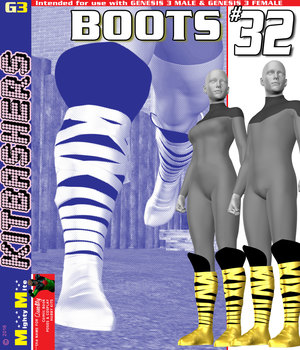 Boots 032 MMKBG3  3D Figure Assets MightyMite