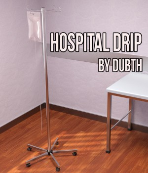 Hospital Drip for Iray 3D Models DubTH