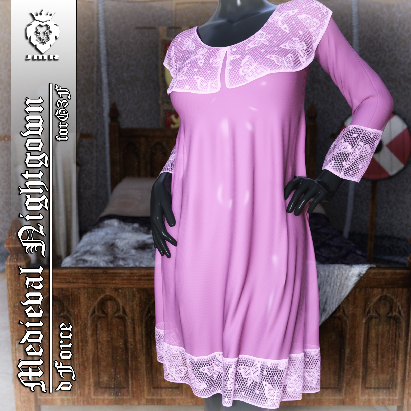 JMR dForce Medieval Nightgown for G3F by JaMaRe
