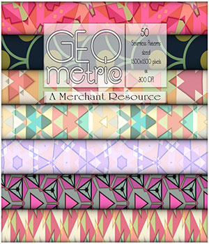 MR - Seamless Geometric Patterns 2D Graphics Merchant Resources antje