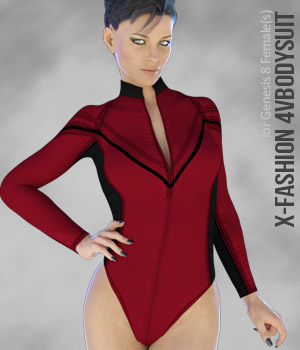 X-Fashion 4VBodysuit for Genesis 8 Females 3D Figure Assets xtrart-3d