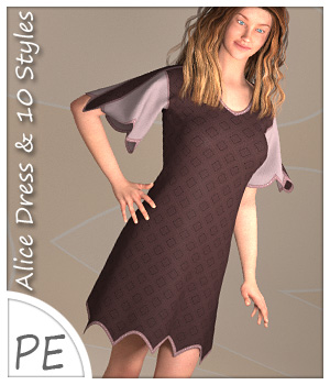 Alice Dress and 10 Styles for Project Evolution  3D Figure Assets karanta