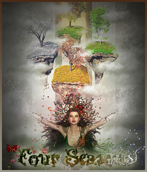 Four Seasons - Backgrounds and Poses for Genesis 3 and 8 Females 2D Graphics 3D Figure Assets ilona