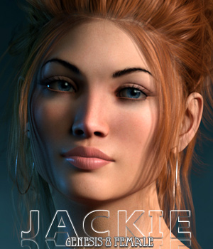 Jackie for Genesis 8 Female 3D Figure Assets Freja