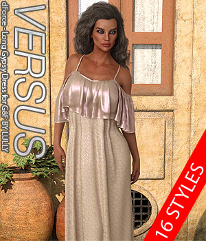 VERSUS - dForce - Long Gypsy Dress for G8F 3D Figure Assets Anagord