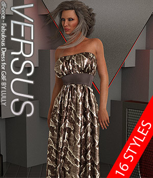 VERSUS - dForce - Fabulous Dress for G8F 3D Figure Assets Anagord