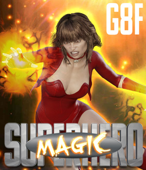SuperHero Magic for G8F Volume 1 3D Figure Assets GriffinFX
