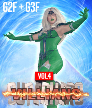 SuperHero Villians for G2F and G3F Volume 4 3D Figure Assets GriffinFX