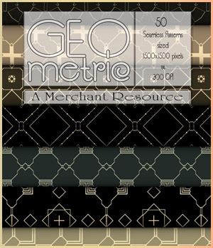 MR - Seamless Geometric Patterns 2 2D Graphics Merchant Resources antje