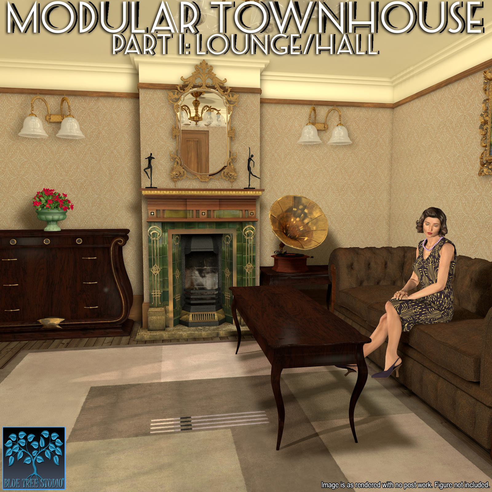 Modular Townhouse 1: Lounge for Poser by BlueTreeStudio