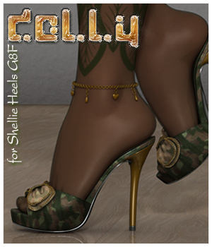 Dolly Shellie Heels G8F 3D Figure Assets alexaana