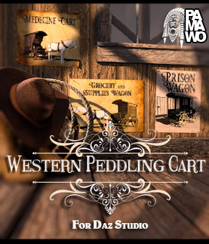 Western Peddling Cart for DS