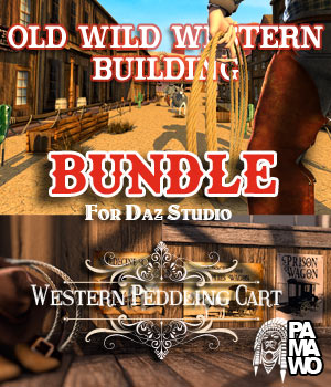 Old Wild West BUNDLE for DS 3D Models pamawo